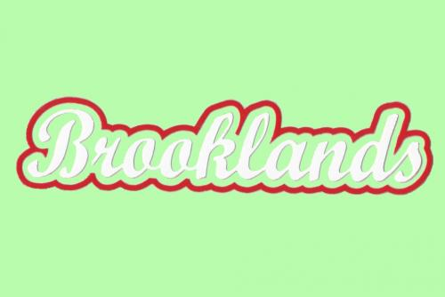 Brooklands Scroll Badge - Red/White