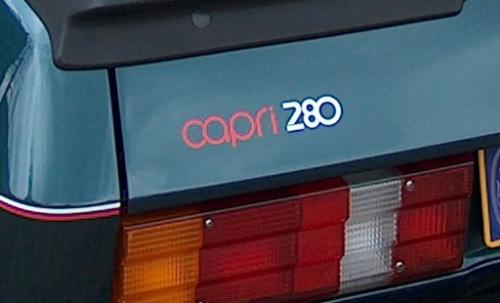 Capri 280 Boot Badge