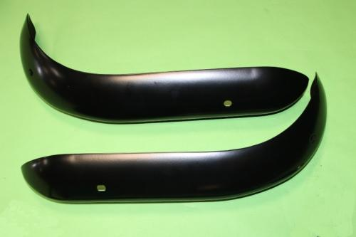 Steel RS Front Quarter Bumpers Satin Black
